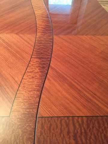 Contemporary Modern Lacquered Wood Dining Table - 3