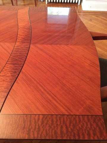Contemporary Modern Lacquered Wood Dining Table - 4