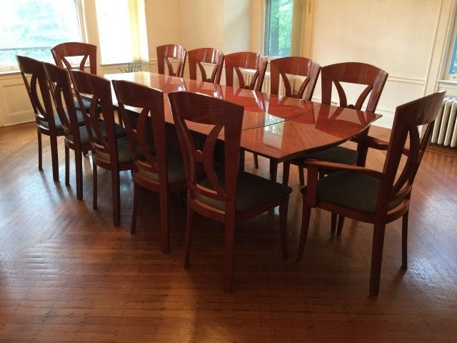 Contemporary Modern Lacquered Wood Dining Table - 5