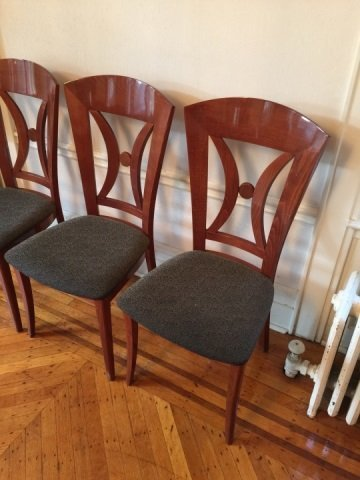 12 Contemporary Biedermeier Style Lacquer Chairs - 3