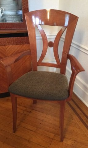 12 Contemporary Biedermeier Style Lacquer Chairs - 5