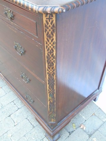 Georgian Style Mahogany Carved Chest of Drawers - 4