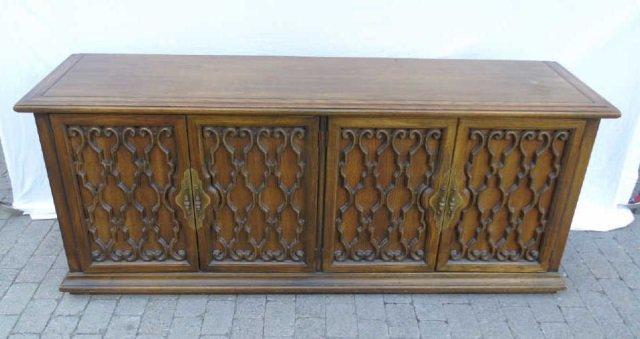 Mid Century Buffet / Sideboard w Wrought Iron