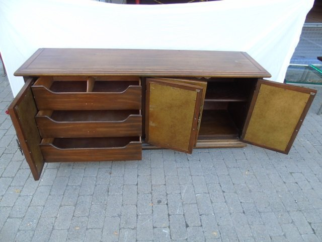 Mid Century Buffet / Sideboard w Wrought Iron - 3