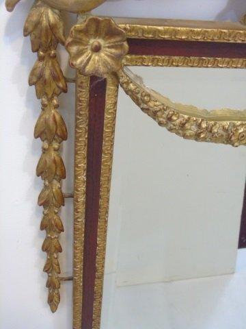Italian Baroque Style Gilt Mirror w Putti Pediment - 3