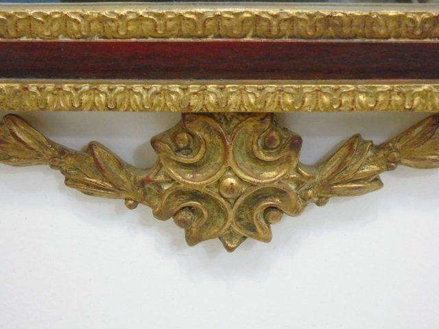 Italian Baroque Style Gilt Mirror w Putti Pediment - 4