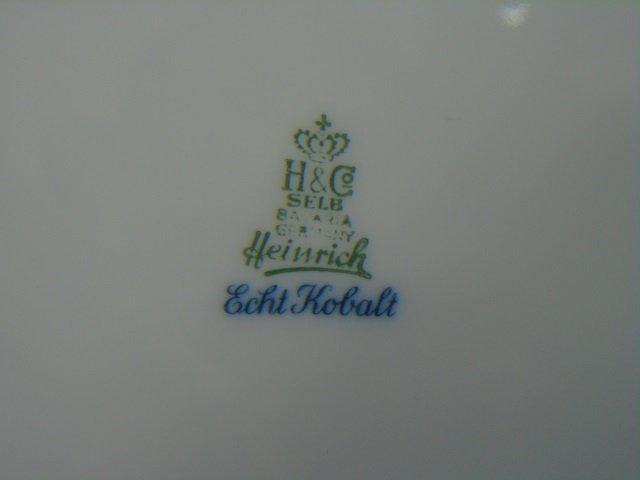 H & Co Selb Bavaria Echt Kobalt Porcelain Service - 6