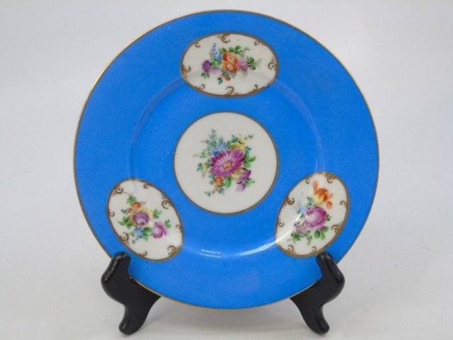 Set of Antique Dresden Germany Hand Painted Plates - 2