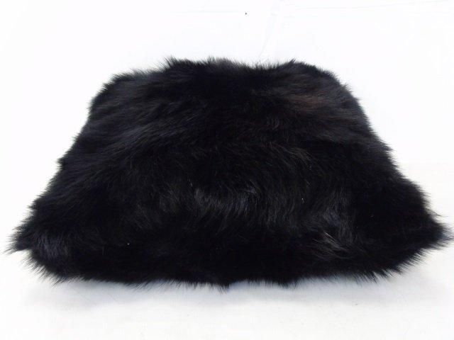 Pair Custom Contemporary Black Fur Throw Pillows - 3