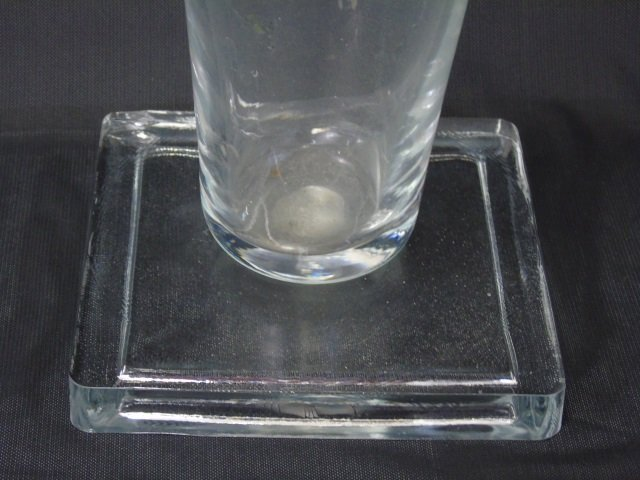 Pair Large Contemporary Modern Glass Vases - 2