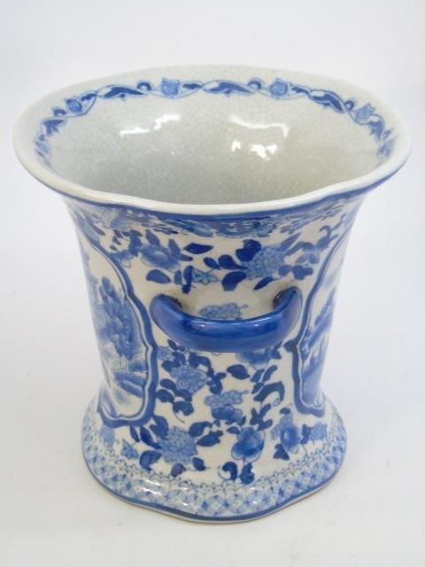 Chinese Blue & White Porcelain Vase & Platter - 2