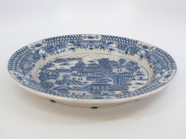 Chinese Blue & White Porcelain Vase & Platter - 3
