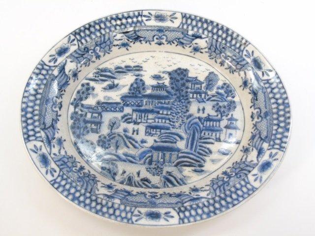 Chinese Blue & White Porcelain Vase & Platter - 4