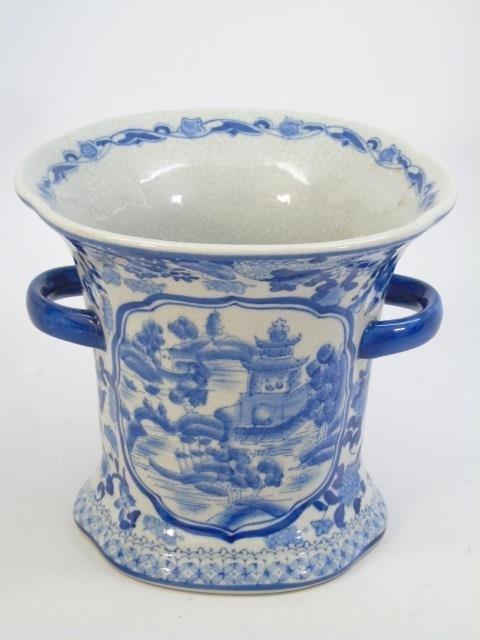 Chinese Blue & White Porcelain Vase & Platter - 5