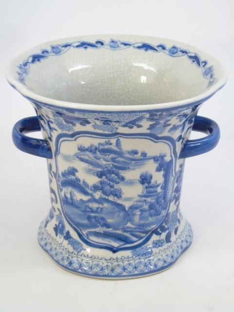 Chinese Blue & White Porcelain Vase & Platter - 6