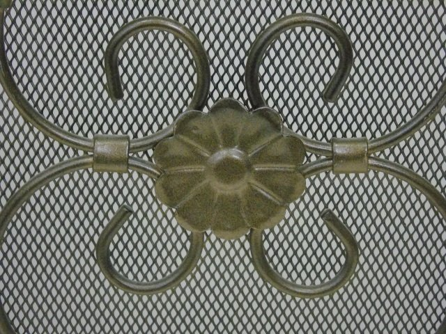 Contemporary Arch Top Scrollwork Fireplace Screen - 5