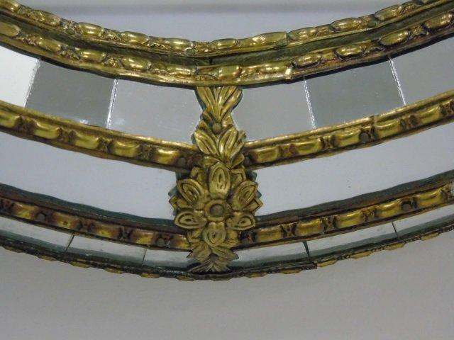 Contemporary Gilt Metal & Mosaic Oval Mirror - 2