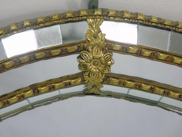 Contemporary Gilt Metal & Mosaic Oval Mirror - 3