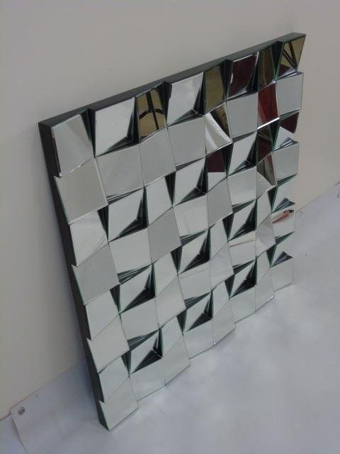 "Contemporary Modern ""Fractured Glass"" Mirror - 2"