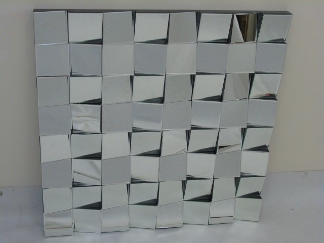 "Contemporary Modern ""Fractured Glass"" Mirror - 4"