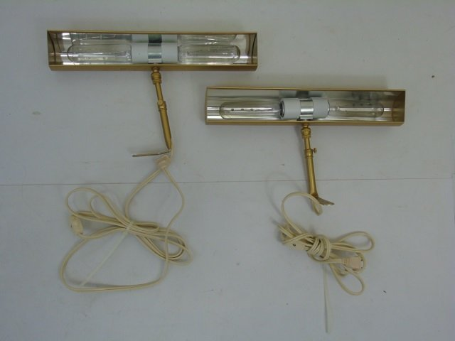 Four Contemporary Gilt Metal Painting Lamps - 2