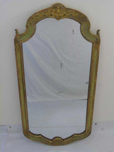 Antique Italian Style Hand Carved Gold Leaf Mirror