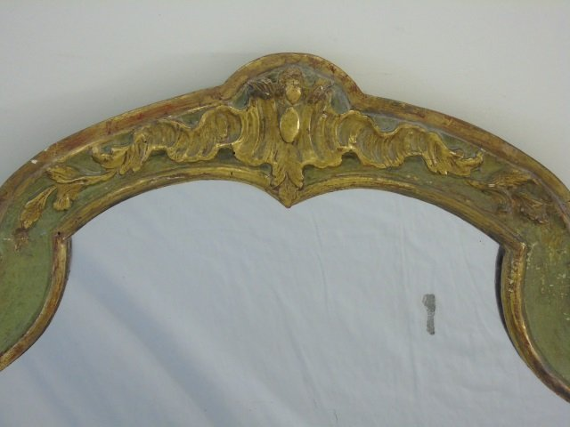Antique Italian Style Hand Carved Gold Leaf Mirror - 2