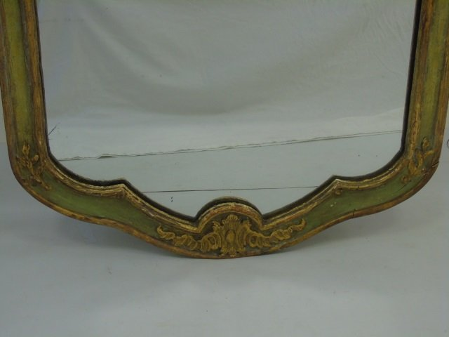Antique Italian Style Hand Carved Gold Leaf Mirror - 5