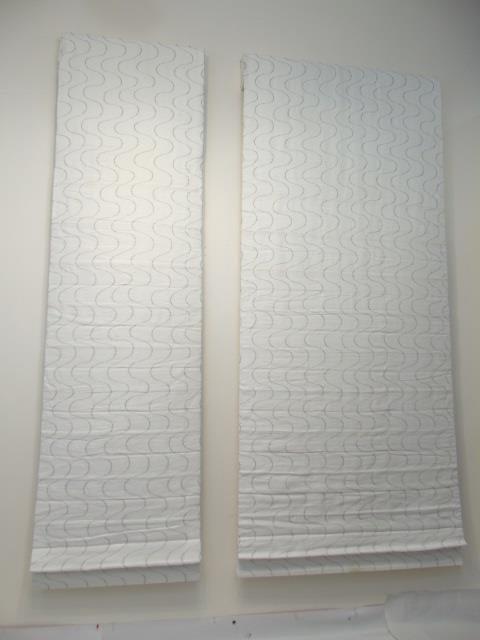 Custom Modern White & Silver Curtains from Kravet