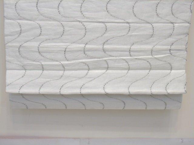 Custom Modern White & Silver Curtains from Kravet - 6