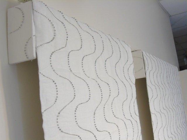 Custom Modern White & Silver Curtains from Kravet - 7