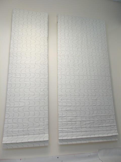 Custom Modern White & Silver Curtains from Kravet - 9