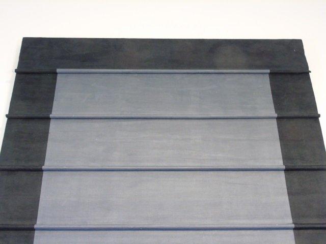 Custom Contemporary Modern Black Suede Curtain - 2