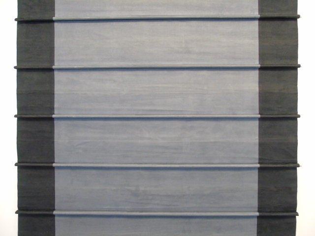 Custom Contemporary Modern Black Suede Curtain - 3