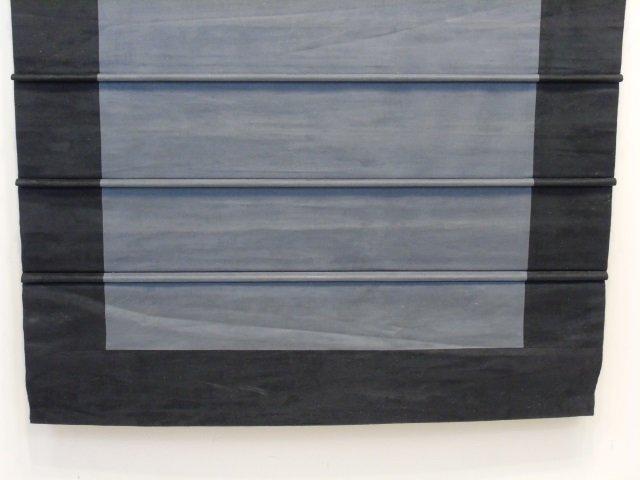 Custom Contemporary Modern Black Suede Curtain - 4
