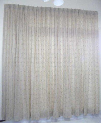 Custom Modern Beige & Silver Curtains from Kravet