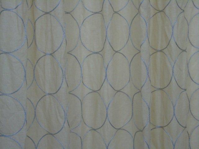 Custom Modern Beige & Silver Curtains from Kravet - 3