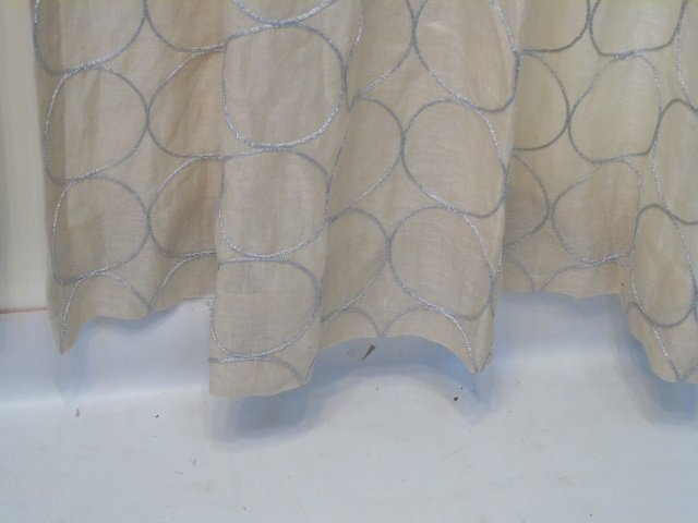 Custom Modern Beige & Silver Curtains from Kravet - 3