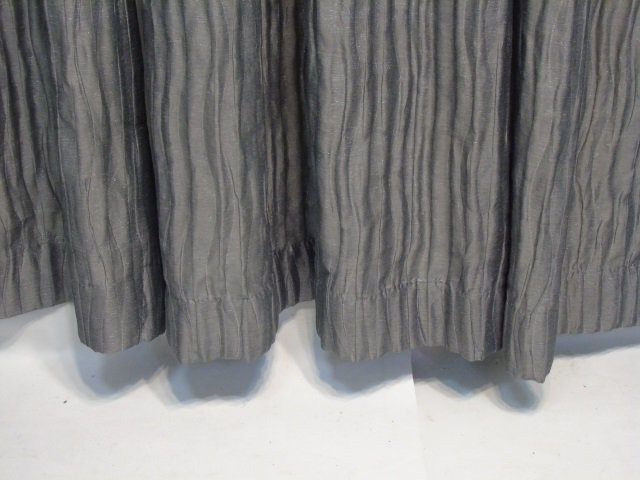 4 Custom Modern Grey & Silver Curtains from Kravet - 4