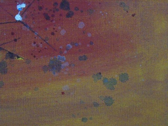 Mid Century Splatter Painting on Canvas Framed - 3