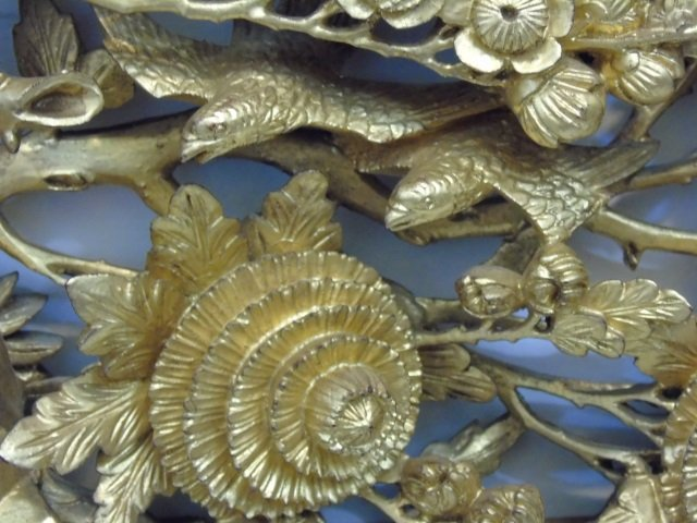Antique Chinese Style Gold Gilt Carving Framed - 3