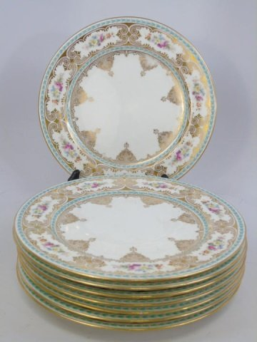 Set of 8 Antique Cauldon English Plates