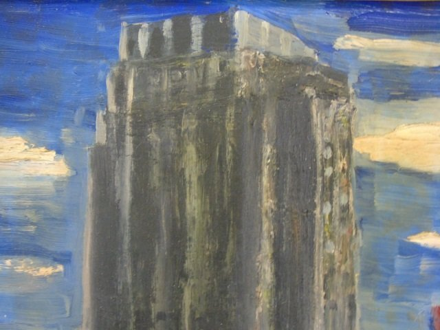 Oil Painting of NYC Skyscraper Water Tanks by Nuti - 2