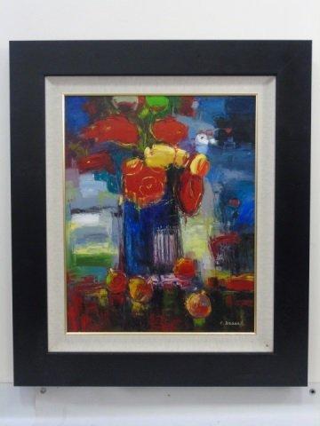Painting Still Life Flowers &  Apples by C. Braun