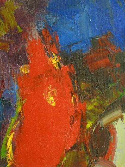 Painting Still Life Flowers &  Apples by C. Braun - 2