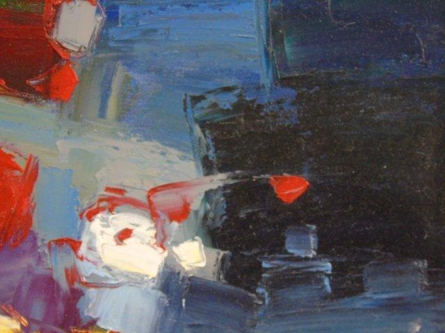 Painting Still Life Flowers &  Apples by C. Braun - 3