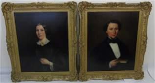 Attb Cephas Thompson - Pair 19th C Portraits