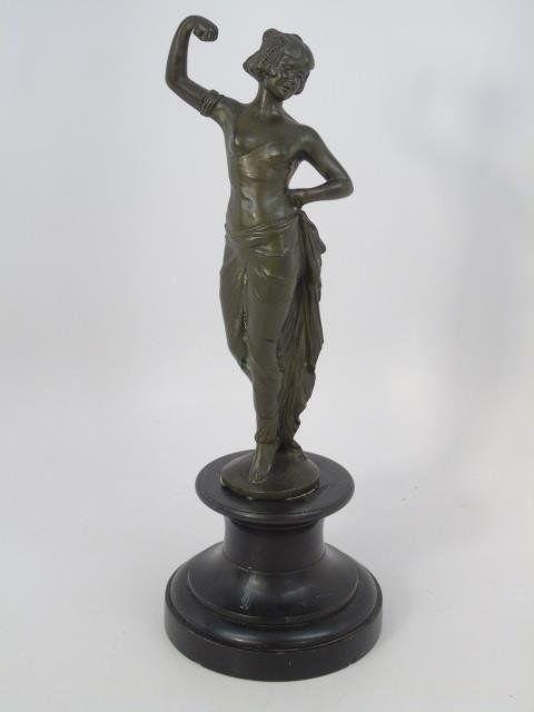 Antique Art Nouveau Bronze Figurine Signed on Base