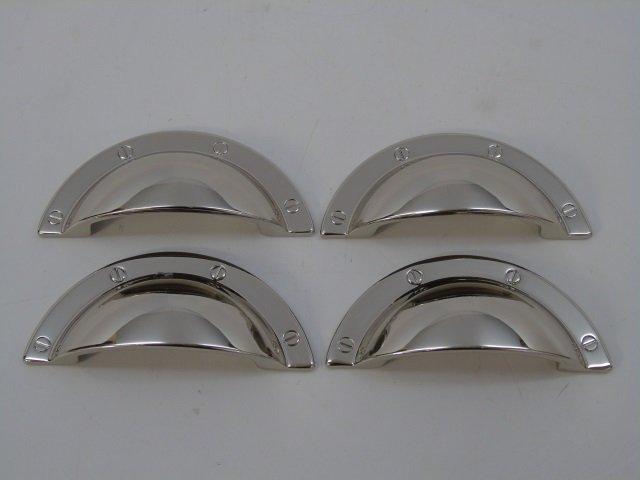 4 Klaffs Contemporary Silver Tone Drawer Pulls - 3