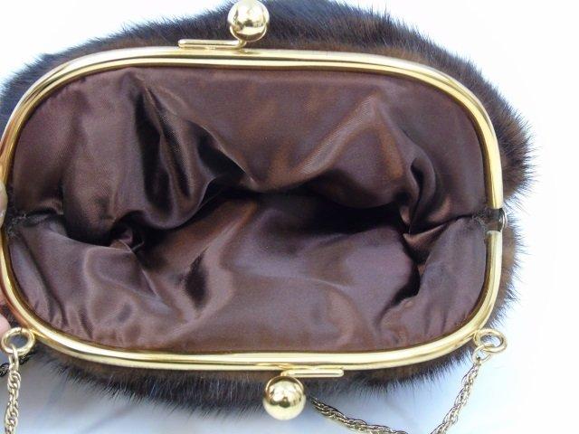Vintage Mink Fur Purse / Hand Bag on Long Chain - 2